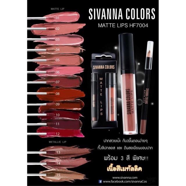 50% GIẢM Son Kem Lì Sivanna Colors Matte Lips