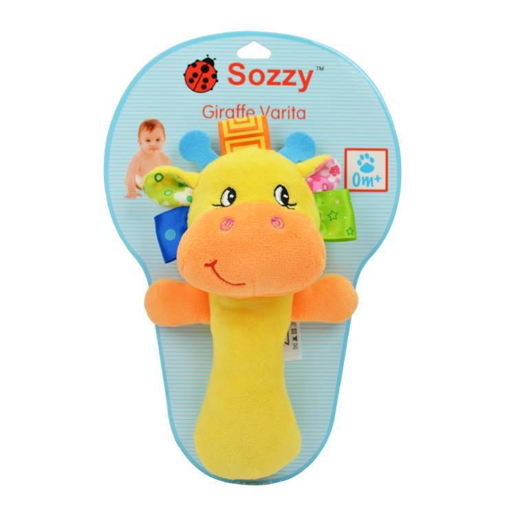 Xúc xắc bông Sozzy + thú bông xúc xắc kèm gặm nướu/treo nôi SKK Baby