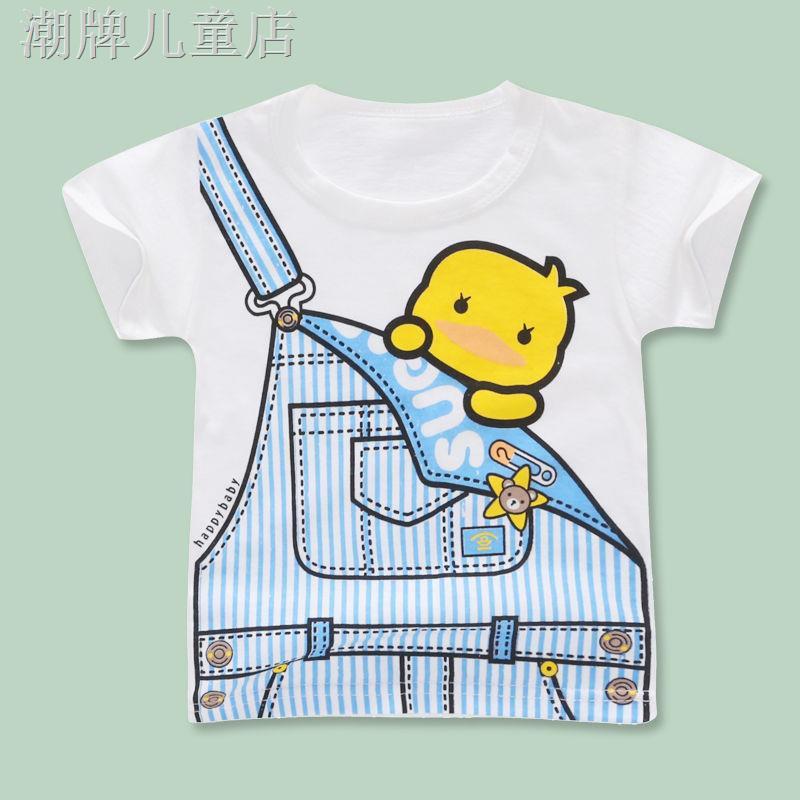 Áo Thun Cotton Tay Ngắn Kiểu Hoạt Hình Xinh Xắn Cho Bé 1-3 Tuổi