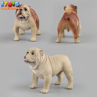 Bulldog, Mô hình Chó Bull lực lưỡng cao cấp tuyệt đẹp, dùng trưng bày trang trí xe hoặc làm quà tặng. ITOYS