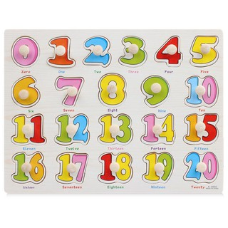 Bảng ghép hình bằng gỗ – Số từ 1-20