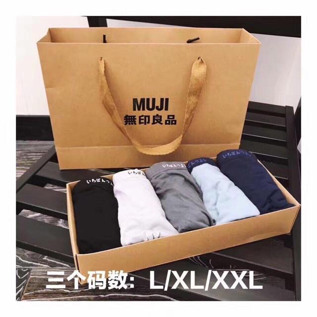 Combo 5 quần sịp đùi Muji cho nam(loại chất cotton full hộp)
