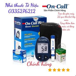 Máy đo đường huyết On Call Plus (Chính hãng)- Bảo hành trọn đời, Tặng 25 que thử + kim chích máu + bông tẩm cồn thumbnail