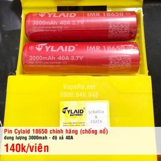 Pin Cylaid 18650 chính hãng – chuẩn dung lượng _ có check mã