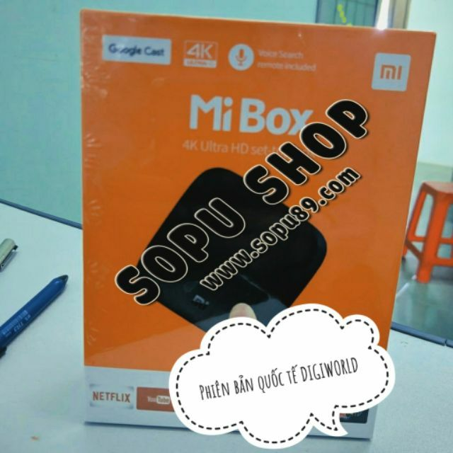 Android Tivi Box Xiaomi Mibox 4K Global Quốc Tế Tiếng Việt (Hãng phân phối chính thức)