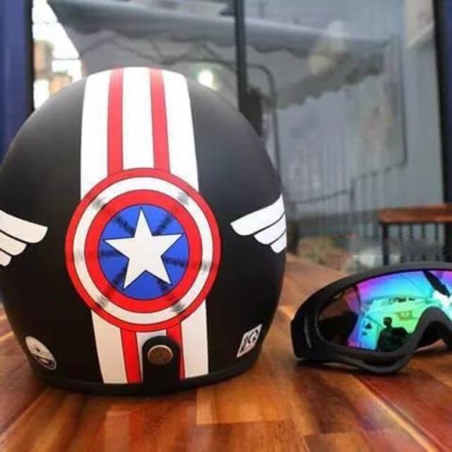 Hàng công ty: Mũ 3/4 Captain American