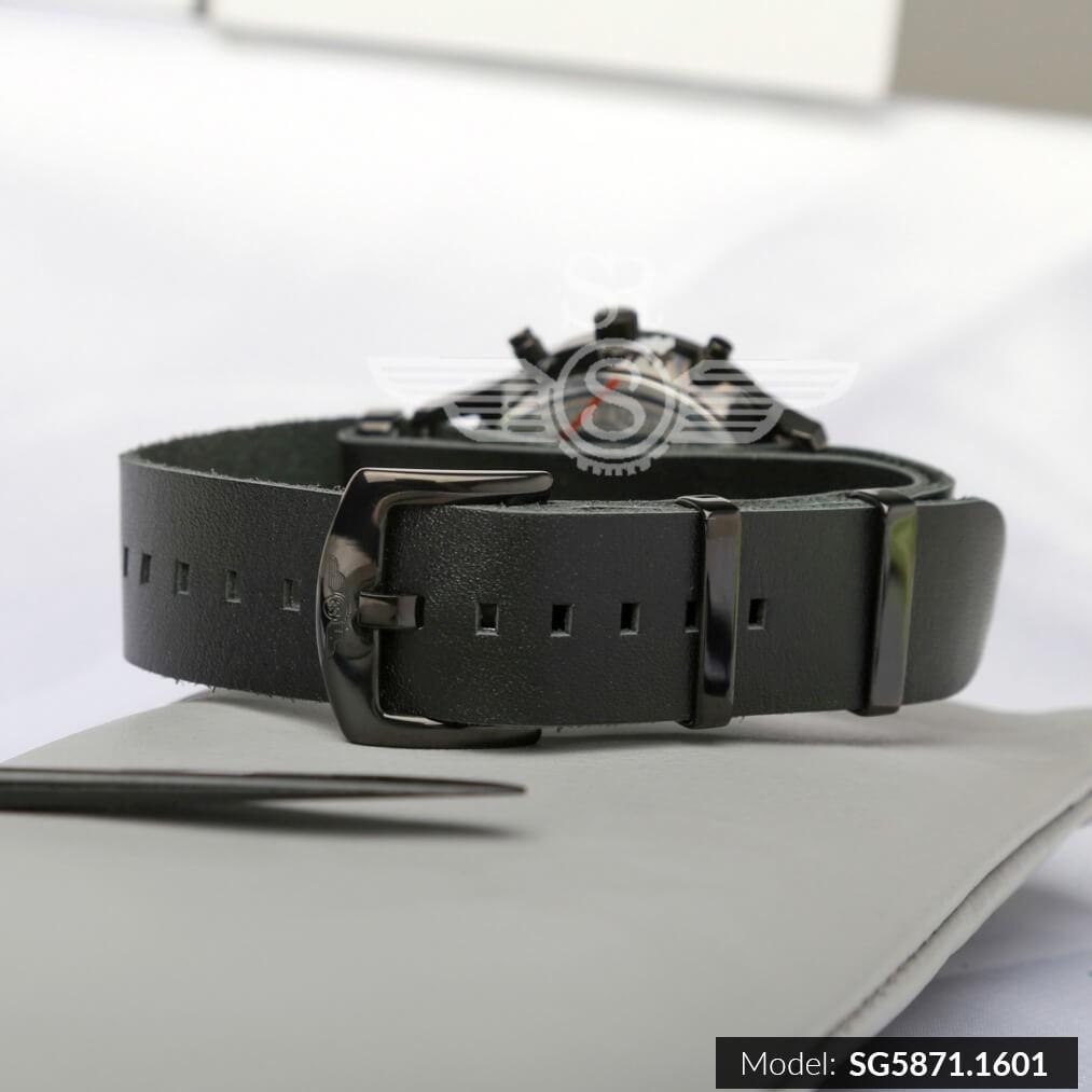 Đồng hồ nam SRWATCH Chrono SG5871.1601 mặt kính Sapphire chống trầy chống nước dây d