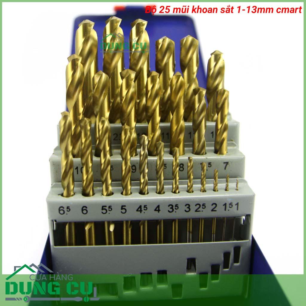 BỘ 25 MŨI KHOAN SẮT 1-13MM A0100B C-MART TOOLS,DIN 338, HSS TIN - 21577441 , 841959643 , 322_841959643 , 697000 , BO-25-MUI-KHOAN-SAT-1-13MM-A0100B-C-MART-TOOLSDIN-338-HSS-TIN-322_841959643 , shopee.vn , BỘ 25 MŨI KHOAN SẮT 1-13MM A0100B C-MART TOOLS,DIN 338, HSS TIN