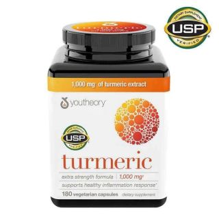 💊💊Viên uống tinh chất nghệ Youtheory Turmeric 1000mg 180 viên của Mỹ