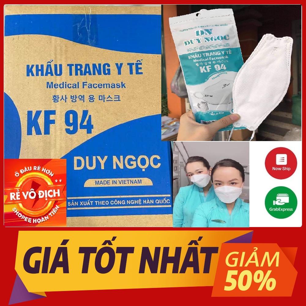 1 Thùng khẩu trang y tế KF94 Duy Ngọc công nghệ kháng khuẩn theo tiêu chuẩn Hàn quốc(300 chiếc)