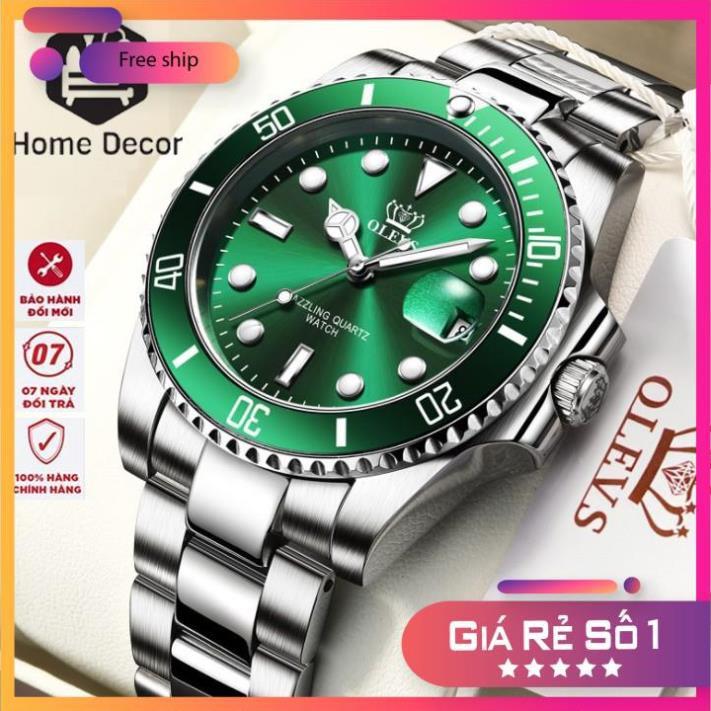 Đồng hồ đeo tay nam Olevs chống nước sang trọng, chống nước, chống xước bảo hành 2 năm.