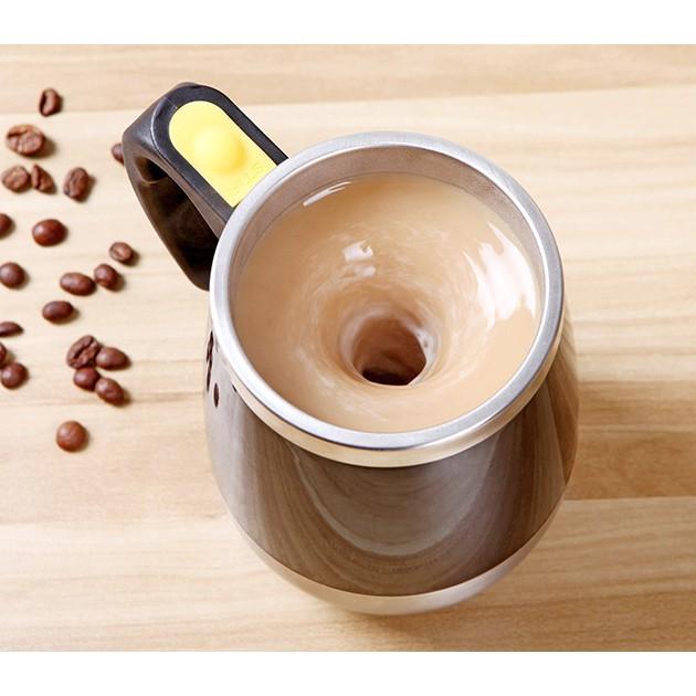 Cốc pha cafe tự khuấy nhựa inox tay cầm /Cốc khuấy cafe ruột inox . ( Hàng đẹp)