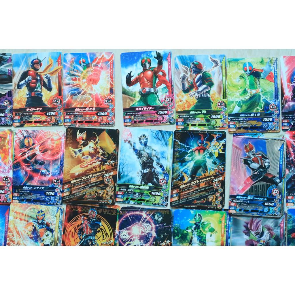 Gói 10 Thẻ Bài Kamen Rider Ganbarizing Chính hãng (N, R rare)