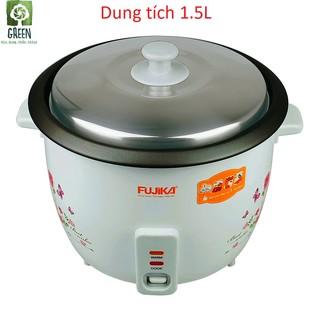 Nồi cơm điện nắp rời 1.5L Fujika FJ-NC1501 cho gia đình 2 – 8 người ăn, hoa văn ngẫu nhiên, bảo hành 12 tháng