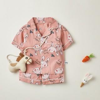 Bộ đồ ngủ cộc tay họa tiết dễ thương cho bé gái , bé trai BR21002 - MAGICKIDS thumbnail