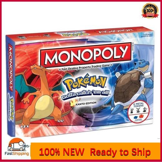 ✈ READY STOCK ✈【COD】KID GAME Cờ Tỷ Phú MONOPOLY POKEMON EDITION Board Game Pokemon Kanto Edition Family Boardgame @stteam98