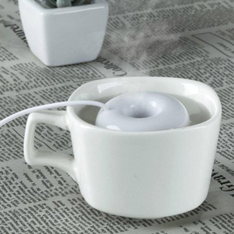Máy phun sương tạo độ ẩm không khí hình bánh donut dễ thương
