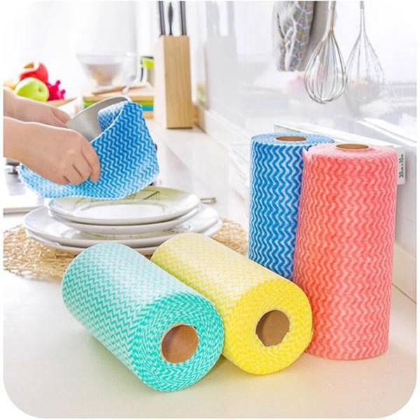 Bộ 2 cuộn khăn lau đa năng (100 cái)   Shopee Việt Nam