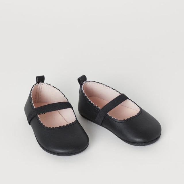Giày Hm da đen