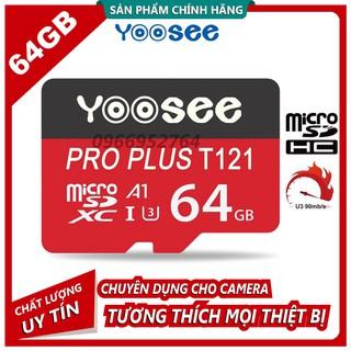 Thẻ Nhớ MicroSD Yoosee Pro Plus 64GB U3 4K - Thẻ Đỏ Cao Cấp thumbnail