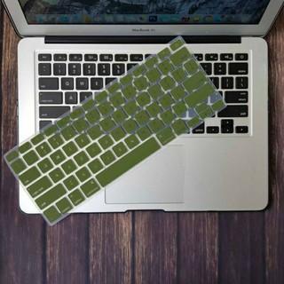 [Hình thật] Phủ phím Macbook màu xanh rêu