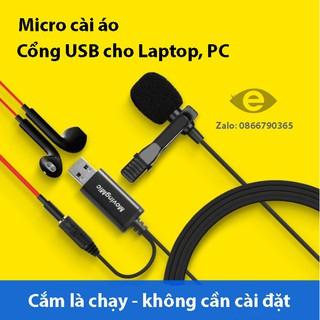 Micro cài áo chân USB Moving mic UL1/UL1 pro cho Laptop, PC