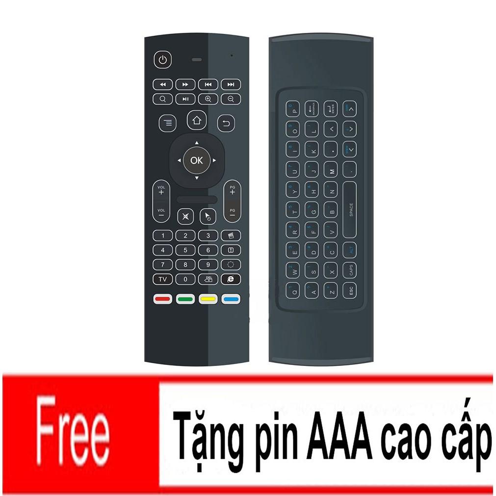 Chuột bay kiêm bàn phím Air Mouse Keyboard MX3 Pro + Tặng pin 3A cao cấp