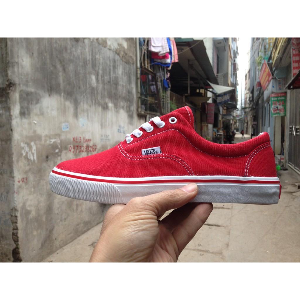 [FREE SHIP + KÈM HỘP] Giày Vans Era Classic màu đỏ tươi