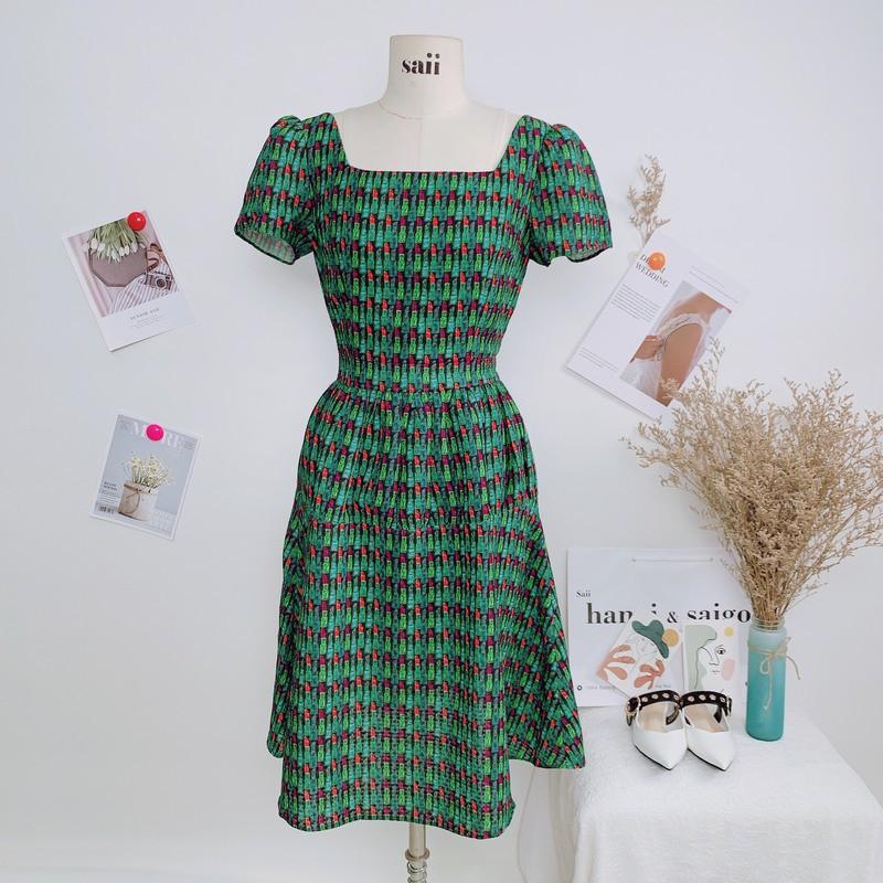 Mặc gì đẹp: Sang trọng với [ĐẦM HOT 2021] Váy Công Sở Đầm Công sở SAII Thiết Kế Cổ Vuông Dáng Xoè DA299