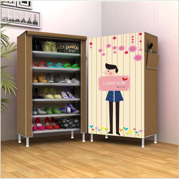 Tủ giày 6 ngăn họa tiết 3d vải không dệt
