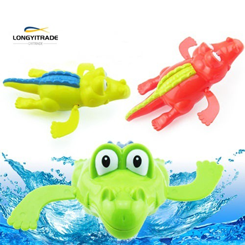 Kid Bath Time Wind-Up Diver Swimming Crocodile Clockwork Toy