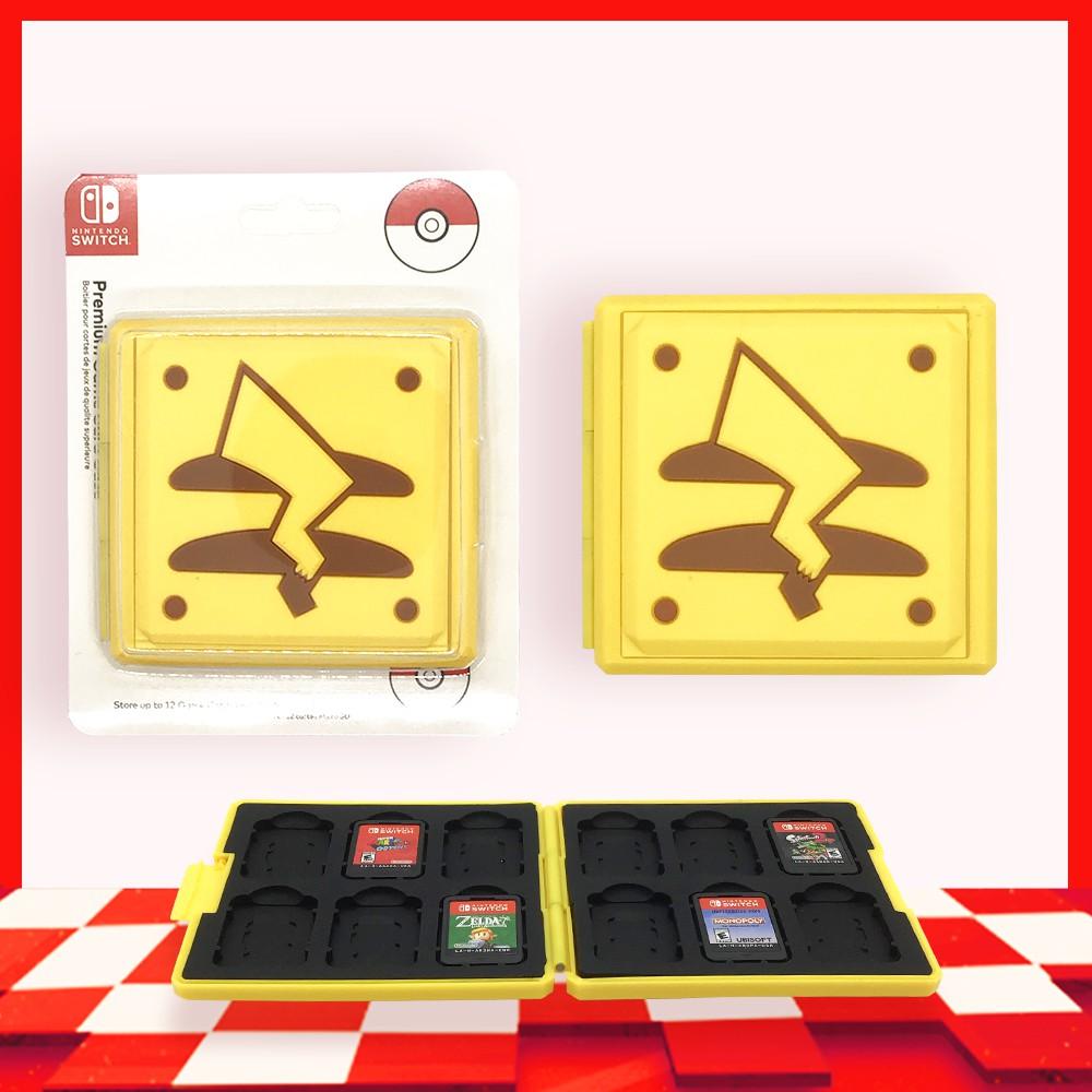 [Hori] Phụ Kiện Hộp Băng Lưu Trữ Thẻ Game Di Động 12 Khoang Cho Nintendo Switch NS, Nintendo Switch Lite Pikachu