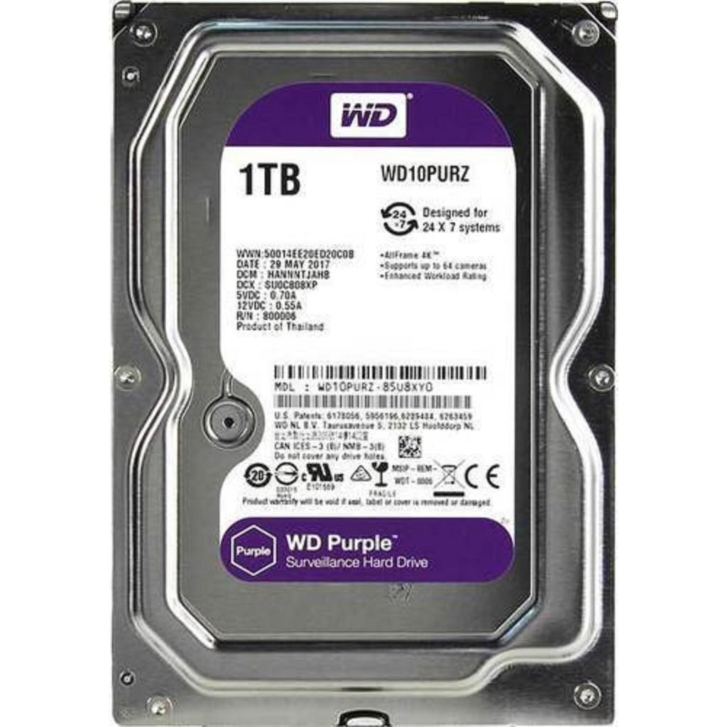Ổ cứng HDD WD tím - Seagate 1Tb mới 100%- Bảo hành 1 năm