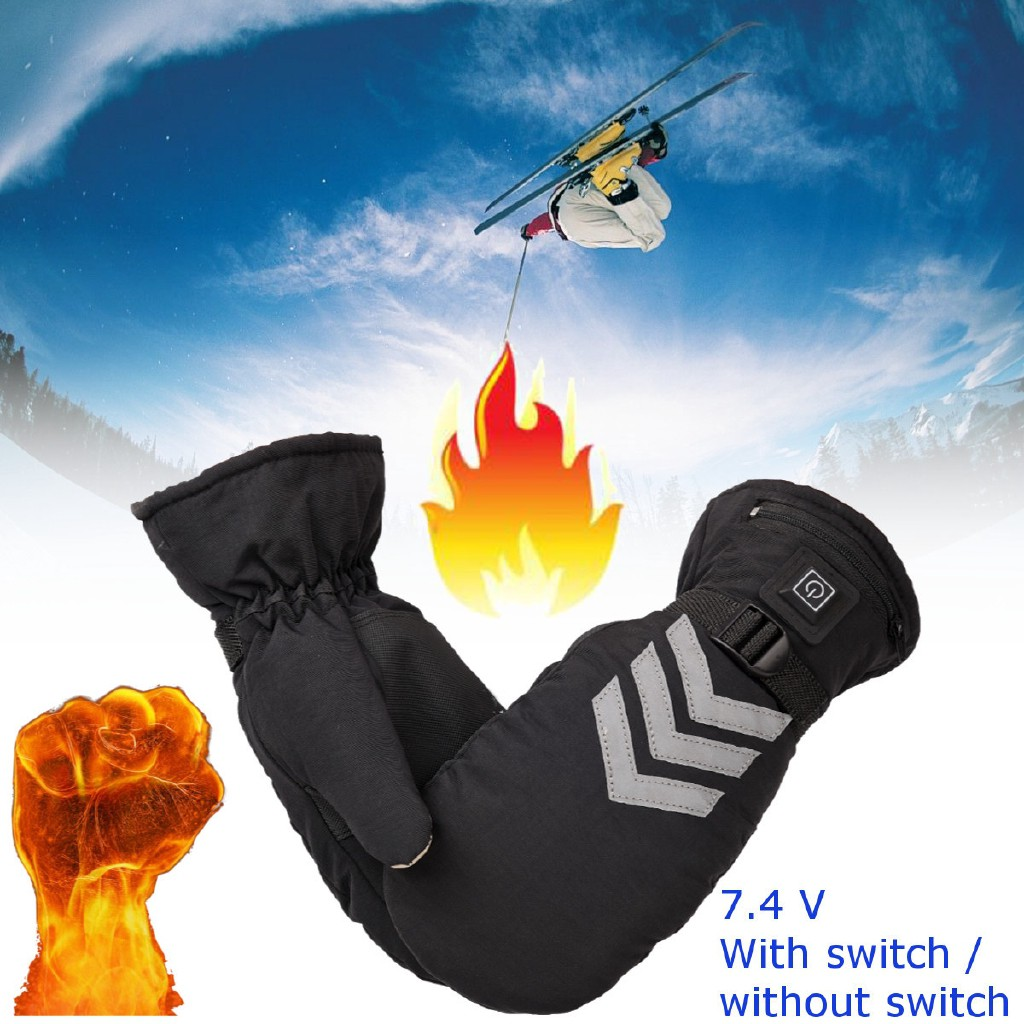 Beast Rechargeable Electric Heated Gloves Ski Sport Warm Battery Power 9.5 W 2600 mAh