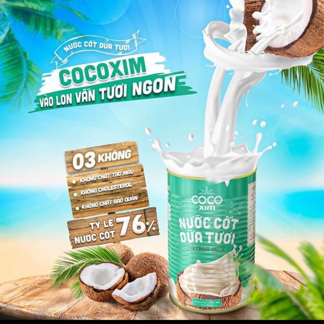 [Mã 267FMCGSALE giảm 8% đơn 500K] Nước Cốt Dừa Cocoxim tươi 400ml date mới