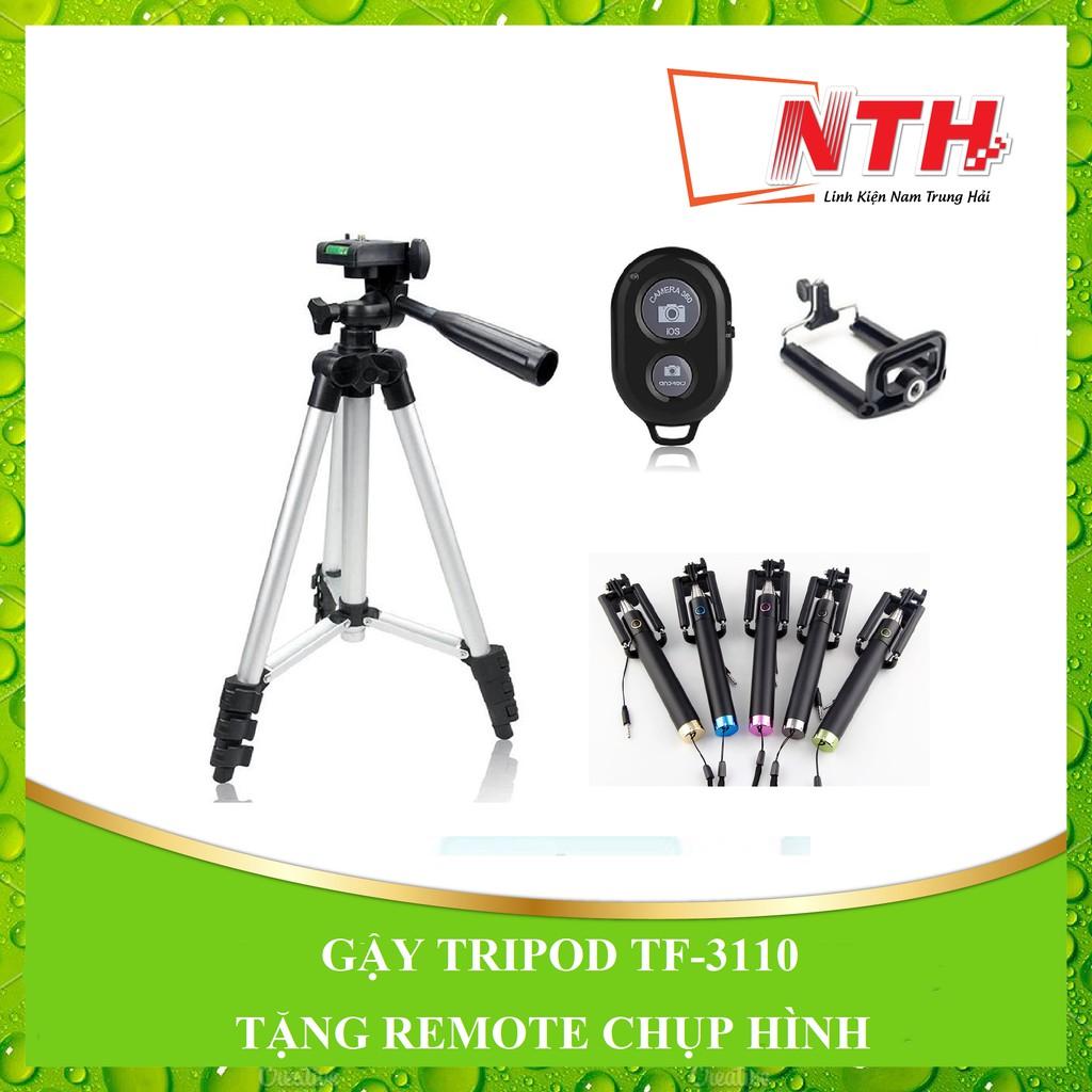 [Tặng remote + gậy xi sắt] Gậy tripod 3 gậy TF-3110