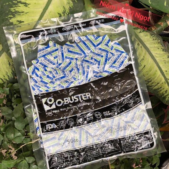 Túi hút ẩm thực phẩm O-BUSTER 50cc (200 gói nhỏ)