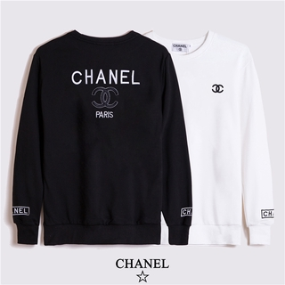 CHANEL Three-dimensional Letter Embroidered Cotton Round Neck Sweater for Men and Women of The Same Style