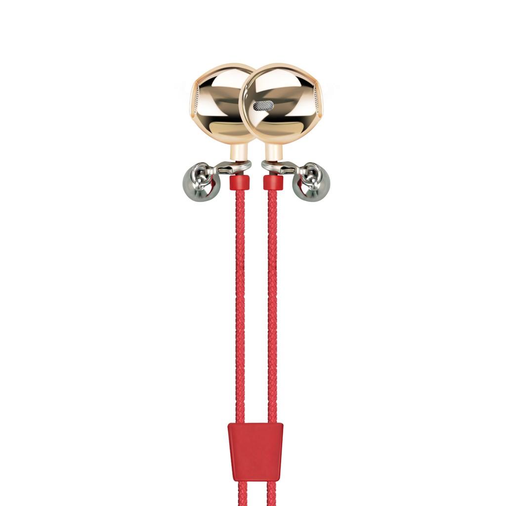 Tai nghe Promate Retro-2 kiêm vòng tay vải kèm Mic (Đỏ)