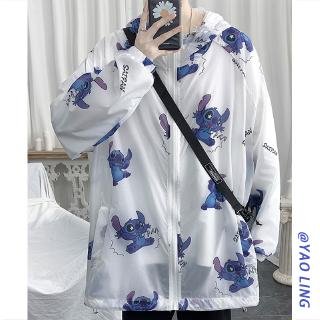 Men's and Women's Summer Sun Suits Ultra Thin Zipper Jacket Fashion Trend Essential