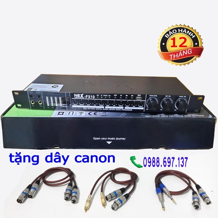 vang chỉnh cơ karaoke NEXFX 10- vang cơ tặng dây canon