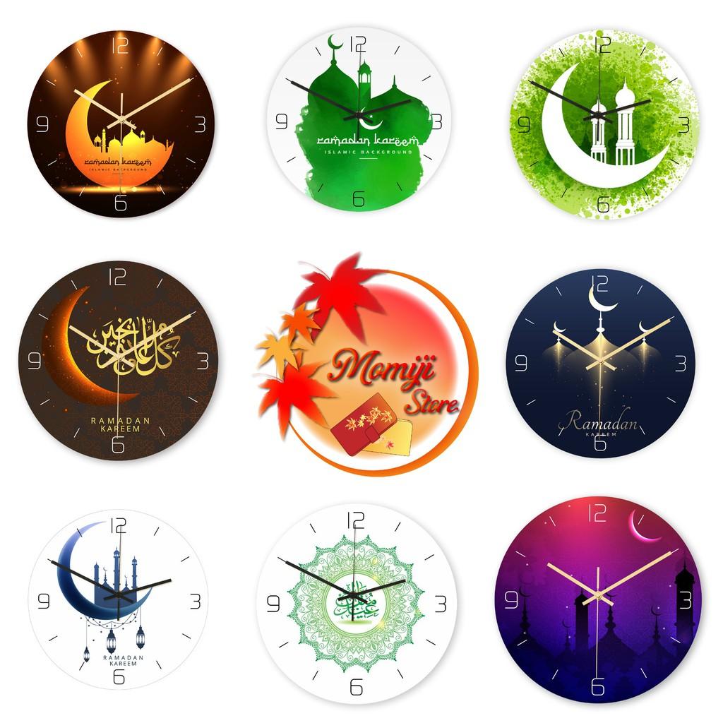 Đồng hồ treo tường kim trôi AOBA phong cách Quý Tộc Ả Rập