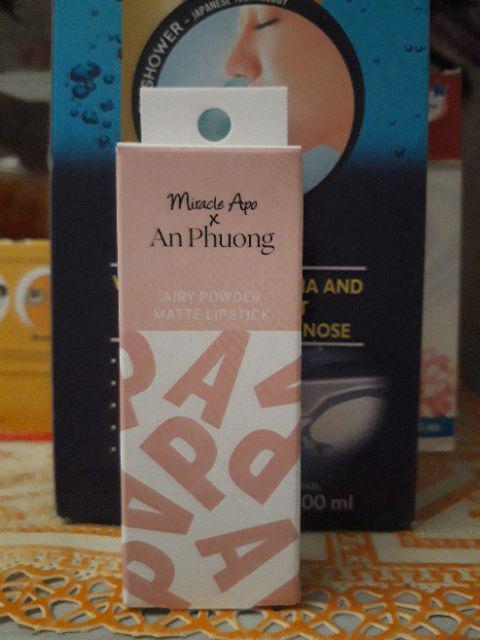 Đánh giá sản phẩm Son thỏi Miracle Apo x An Phương Holiday Collection Lipstick 4g của nhomcochi