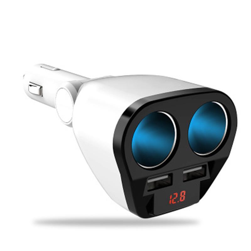 12V/24V Car Dual USB Charger Adapter Car Cigarette Lighter Socket Splitter