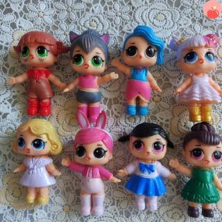 8 Cái / Đặt 6-7cm LOL DollSize Không bóng cho các cô gái