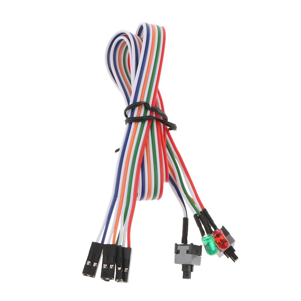 Công tắc đóng mở kèm 2 đèn LED 60cm ATX PC