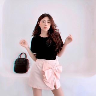 Chân váy nơ hồng tingoan DIXIE SKIRT BP (váy có quần bên trong) thumbnail