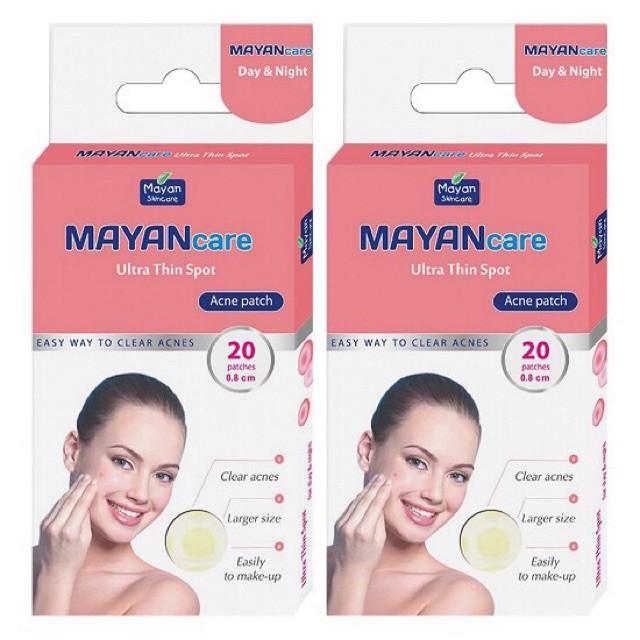 Miếng dán mụn cấp tốc Mayan Care 20 miếng và 12 miếng chính hãng