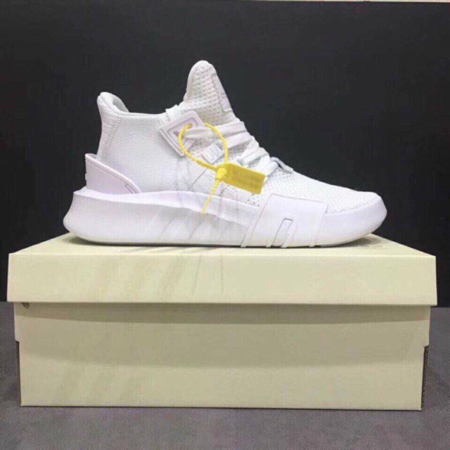 Giày thể thao Sneaker  eqt 2018 trắng full (tặng móc khoá)