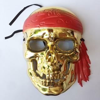 Mặt nạ xương cướp biển vàng hóa trang Halloween